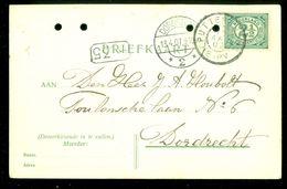 HANDGESCHREVEN BRIEFKAART Uit 1907 NVPH 55 Van PUTTERSHOEK Naar DORDRECHT  (10.659d) - Periode 1891-1948 (Wilhelmina)