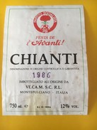 5645 -  Partito Socilaista Festa De L'Avanti 1986 Chianti - Politica (vecchia E Nuova)