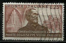 1951 Giuseppe Verdi 25 Lire Usato - 6. 1946-.. Repubblica