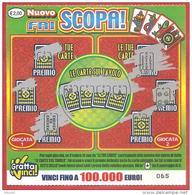 ITALIA - ITALY - LOTTERIA ISTANTANEA - LOTTERY TICKET - GRATTA E VINCI - NUOVO FAI SCOPA - € 2,00 - Biglietti Della Lotteria