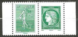 N° 4908 & 4909 : Anniversaire Lettre Verte Cerès Et Semeuse - Neufs Attachés - Nuovi