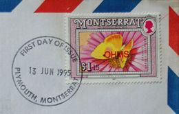 Butterflies Papillons Schmetterlinge Lettre Cover Montserrat Overprint / O - Butterflies
