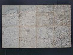 Topografische En Militaire Kaart STAFKAART +/- 1910 Veurne Dunkerque Hoogstade Moeres Bulskamp Yser Westvleteren - Cartes Topographiques
