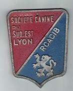CHIENS -    Plaque  Société Canine LYON - Organizations