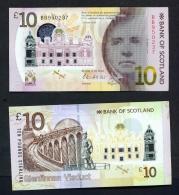 SCOTLAND  -  01/06/2016  £10 Polymer Bank Of Scotland Banknote  Walter Scott  UNC - 10 Pounds