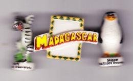 3 Fèves Madagascar 2005 Skipper Madagascar Marty - Cartoons