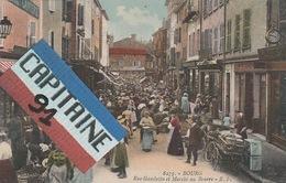CPA BOURG RUE GAMBETTA ET MARCHE AU BEURRE - Bourg-en-Bresse