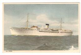 M/s Saga - Swedish Lloyd - Gothenburg-London-Gothenburg - Boot / Bâteau / Schiff / Boat - Paquebots