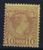 Monaco:  Mi  4   MH/* Flz/ Charniere  1885 - Monaco