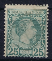 Monaco:  Mi 6  MH/* Flz/ Charniere  1885 Small Piece Of Paper On Back - Monaco