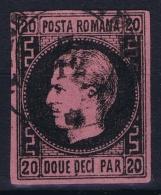 Romania:  Mi 16 X   Obl./Gestempelt/used  1866 - 1858-1880 Moldavia & Principato