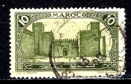 MAROC 102° 10c Vert-jaune Porte Hab-el-Mansour à Meknès (10% De La Cote + 0,15) - Morocco (1891-1956)