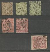 Allemagne - Confédération De L'Allemagne Du Nord - Lot De 5 Timbres Oblitérés (+ 1 Défect) - North German Conf.