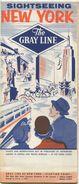 The Gray Line - Sightseeing New York - Faltblatt 1957 - World