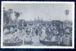 Cpa Carte Photo Du Cambodge -- Danseuses Cambodgiennes -- Envoi De Saïgon   SEP17-49 - Cambodia