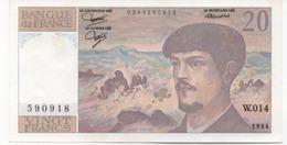 20 FRANCS  DEBUSSY  1984 SERIE W.014 - 20 F 1980-1997 ''Debussy''