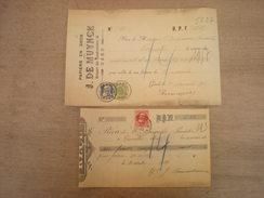 2 Reçus : Papiers En Gros J. De Muynck, 1911 + ?? (box1) - Imprimerie & Papeterie