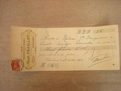 Reçu Papeterie Gust. Praillet, Cherleroi, 1912 (box1) - Imprimerie & Papeterie