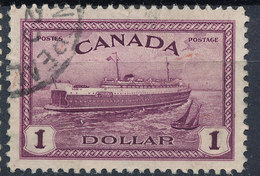 Stamp Canada  1946  $1 Used - Used Stamps