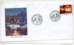 Lettre Cachet Saint Louis Noel 2011 Sur Timbre à Moi Marche De Noel - Marcophilie (Lettres)