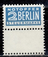 D+ Deutschland 1948 Mi 1 Mnh Zwangszuschlagsmarke Notopfer Berlin - BRD