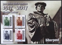 Biber Post Schmuckbogen 500 J. Reformation, Martin Luther - [7] República Federal
