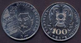 Kazakhstan 100 Tenge 2016 UNC < Alikan Bukeykhanov > Commemorative Coin - Kazakhstan