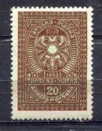 Serbia 1941, WWII German Nazi Occupation, Revenue Stamp, Administrative Stamp, Tax Stamp 20d - Besetzungen 1938-45