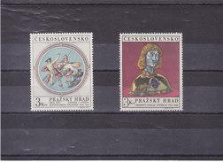 TCHECOSLOVAQUIE 1970 CHÂTEAU DE PRAGUE Yvert 1787-1788 NEUF** MNH - Checoslovaquia