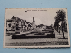 Standbeeld Der GESNEUVELDEN ( Huis Blondine ) Anno 19?? ! - Zelzate