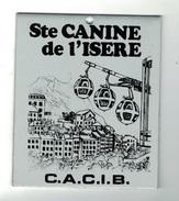 CHIENS -    Plaque Société Canine De L'ISERE - Organizations
