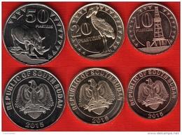 South Sudan Set Of 3 Coins: 10 - 50 Piasters 2015 UNC - Monnaies