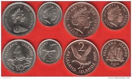 Falkland Islands Set Of 4 Coins: 1 - 10 Pence 1998-2004 UNC - Falkland Islands