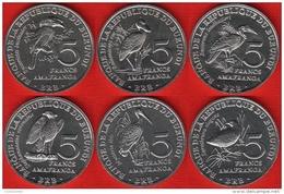 "Burundi Set Of 6 Coins: 5 Francs 2014 ""Birds"" UNC - Burundi"