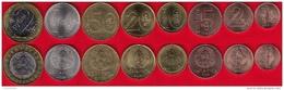 Belarus Set Of 8 Coins: 1 Kopek - 2 Roubles 2009 (2016) UNC - Belarus