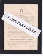 Faire-part Décès M. Charles Gabriel Henri CHENUT, Celles-sur-Plaine, 1894 - Obituary Notices