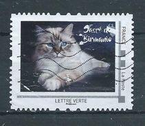 FRANCE  MONTIMBRAMOI Oblitéré  Chat SACRE DE BIRMANIE - Chats Domestiques