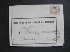 L 273 - TB Lettre Affranchie  Avec N° 21, De Auxerre Pour Auxerre ( Le 29/09/1867). - Storia Postale