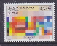 Europa Cept 2006 Andorra Fr 1v ** Mnh (37115) - 2006