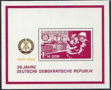 Germany (DDR) 1984  35 Jahre DDR (**) MNH  Mi.2896 (block 78) - DDR