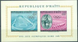 HAITI - MNH/*** LUXE - 1960 - OLYMPIC GAMES ROMA - Mi BLOCK 14 - Yv BLOC 14 -  Lot 15959 - Haïti