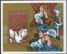 Germany (DDR) 1984  35 Jahre DDR (o) Mi.2902 (block 79) - DDR