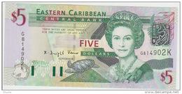 East Carribeans  5 Dollars 2003 Pick 42k UNC - Caraïbes Orientales