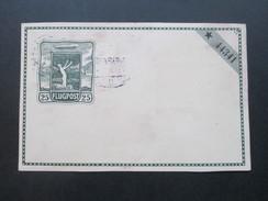 DR 1914 Privat Ganzsache Flugpostkarte Flugpost Dresden - Leipzig. Zeppelin Darstellung Nr. 44341. Mit Zusatzfrankatur - Airmail