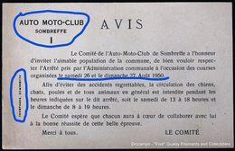 Sombreffe Auto Moto-club 1950 - Sombreffe