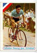 Document Ancien Sport Cyclisme Coureur Cycliste Miroir Sprint 12 X 9 Chewing Gum Olympiad Forestier - Cyclisme