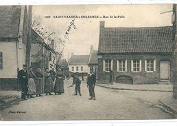 59: SAINT VAAST LES SOLESMES La Rue De La Pelle Animée++ Rare - Autres Communes