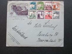 Palestine 1933 MiF Umschlag Mit Inhalt: Hotellerie N.D. De France Jerusalem. Hotel. Briefpapier Vom Hotel!! + 2 Fotos. - Palästina
