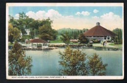 PAWTUCKET R.I - RHODE ISLAND - U.S.A. - Boat House And Lake ,Slater Park - Recto  Verso - Paypal Free - Pawtucket