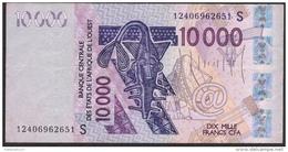 WAS GUINEA BISSAU LETTER S P918Sj 10.000FRANCS 2003 DATED  (20)12 2012 VF NO P.h. !. - Guinea-Bissau